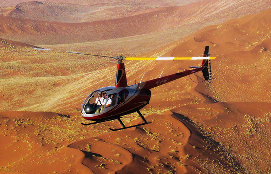 Helicopter flights over the Namib and Sossusvlei