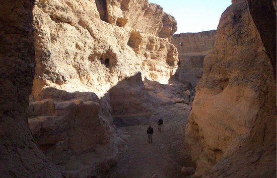 Remarkable depths of Sesriem Canyon