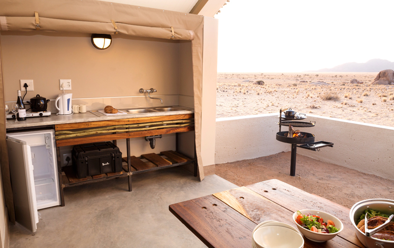 Desert Quiver Camp Unit Patio