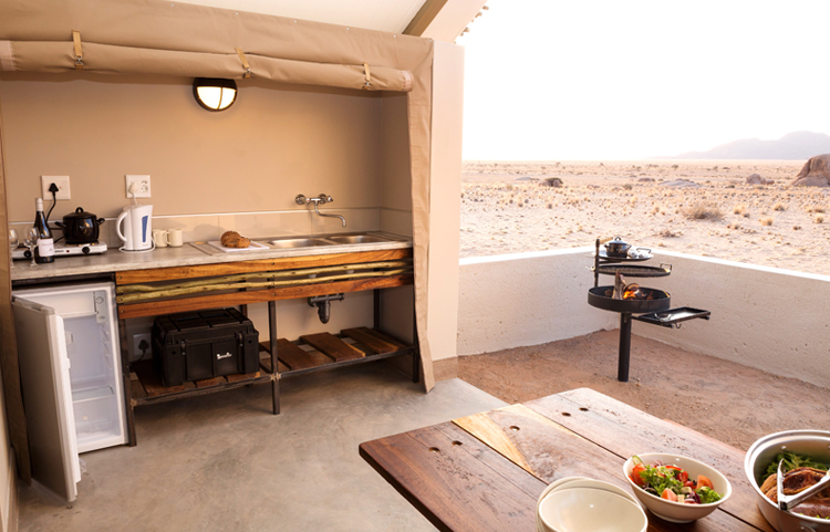 Desert Quiver Camp Kitchenette and Barbeque